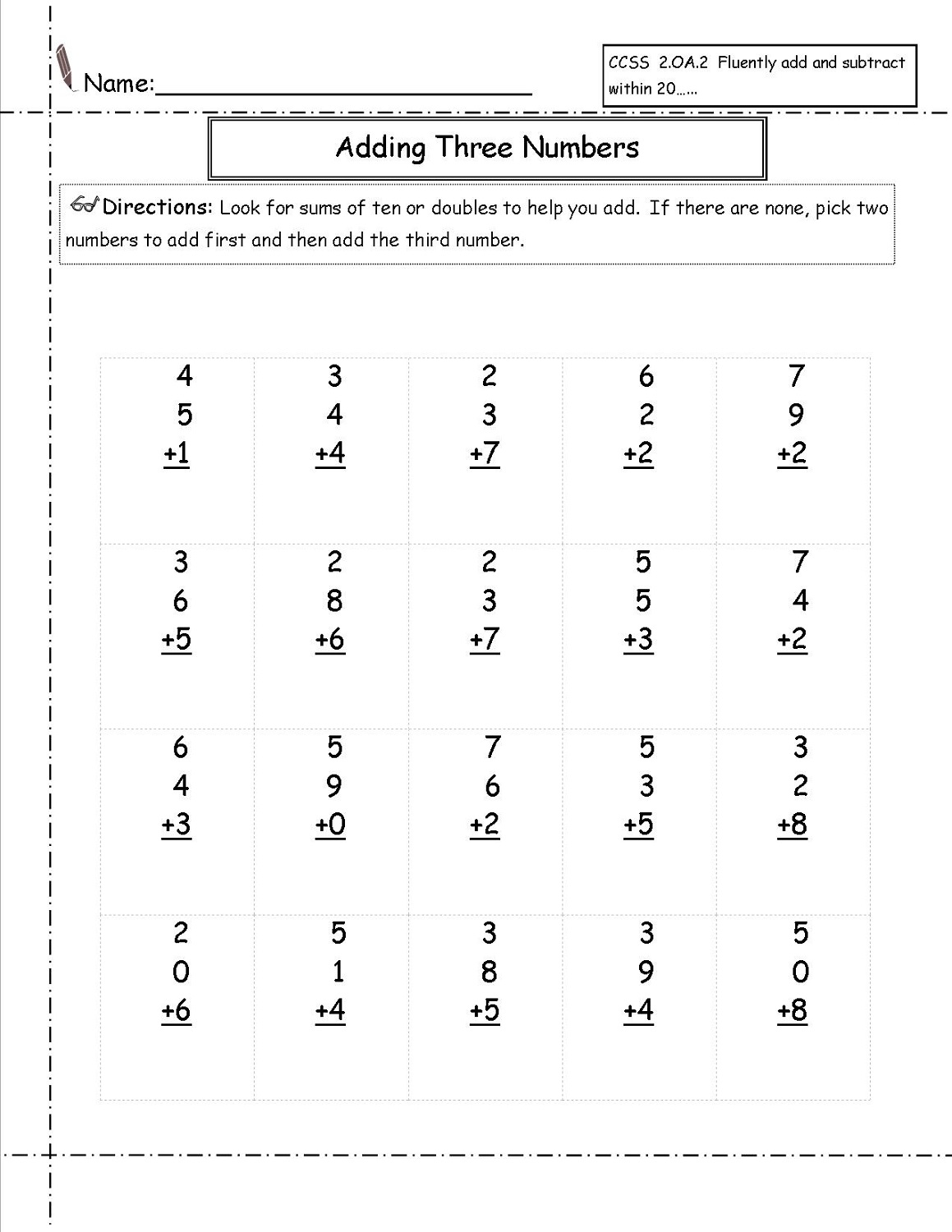 3 Grade Math Worksheet K5 Learning