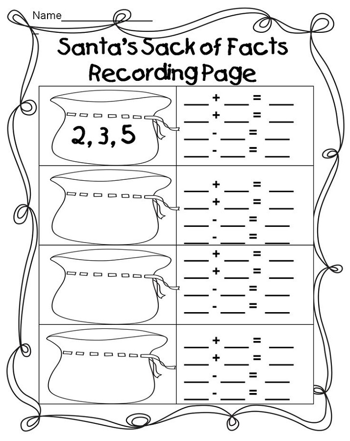 Bubble First Grade Fact Family Worksheets. Bubble. Best