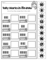 Tally Mark Worksheets Printable | Activity Shelter