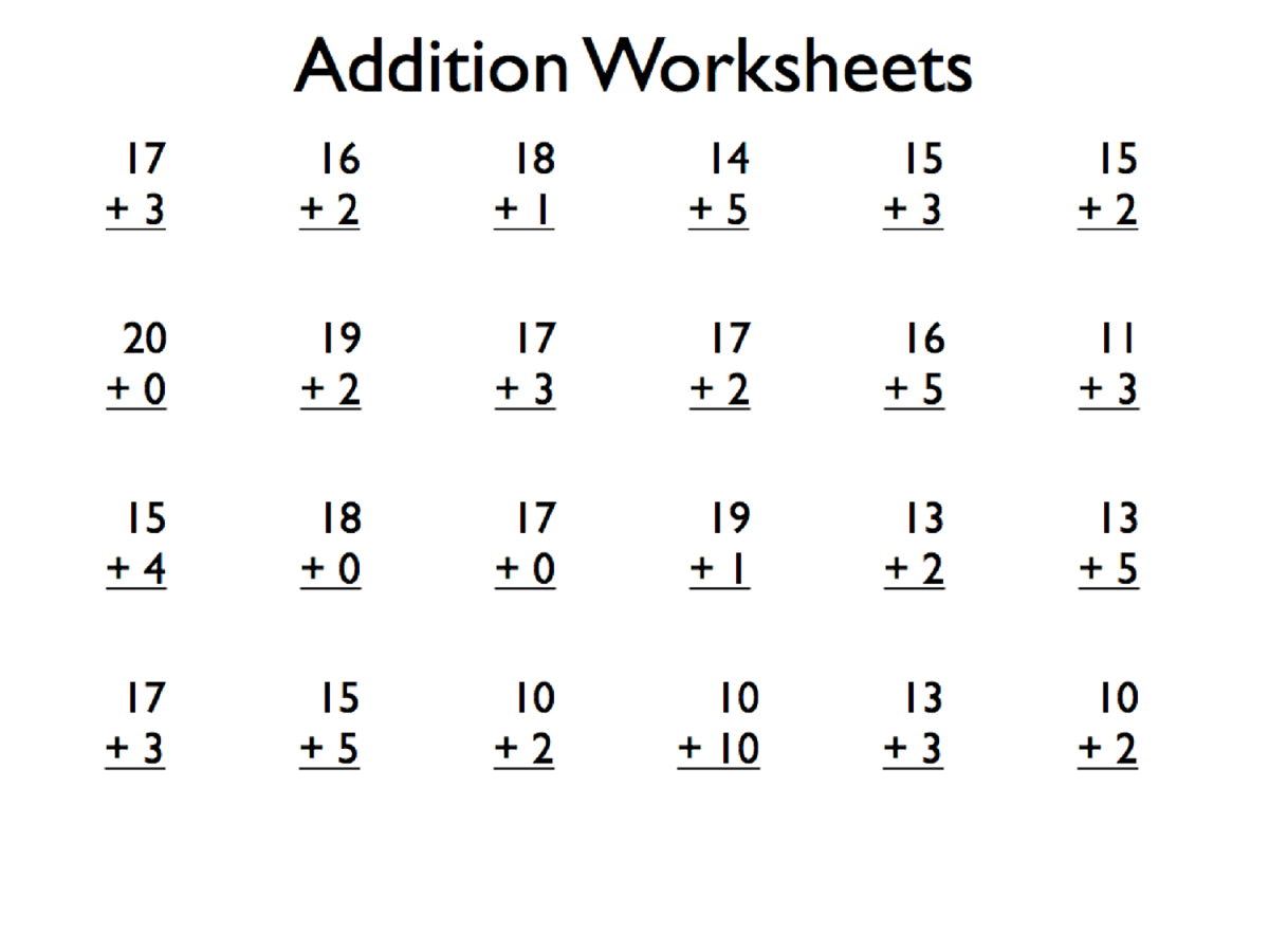 1 Minute Math Worksheet Printable