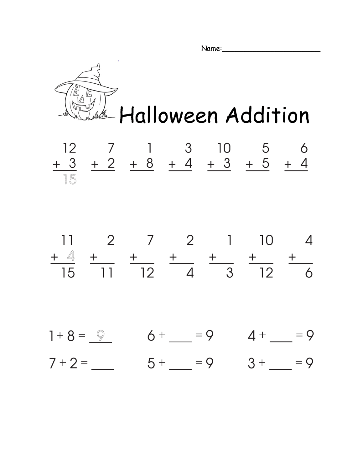 hight resolution of Math Worksheets for 1st Grade   Activity Shelter