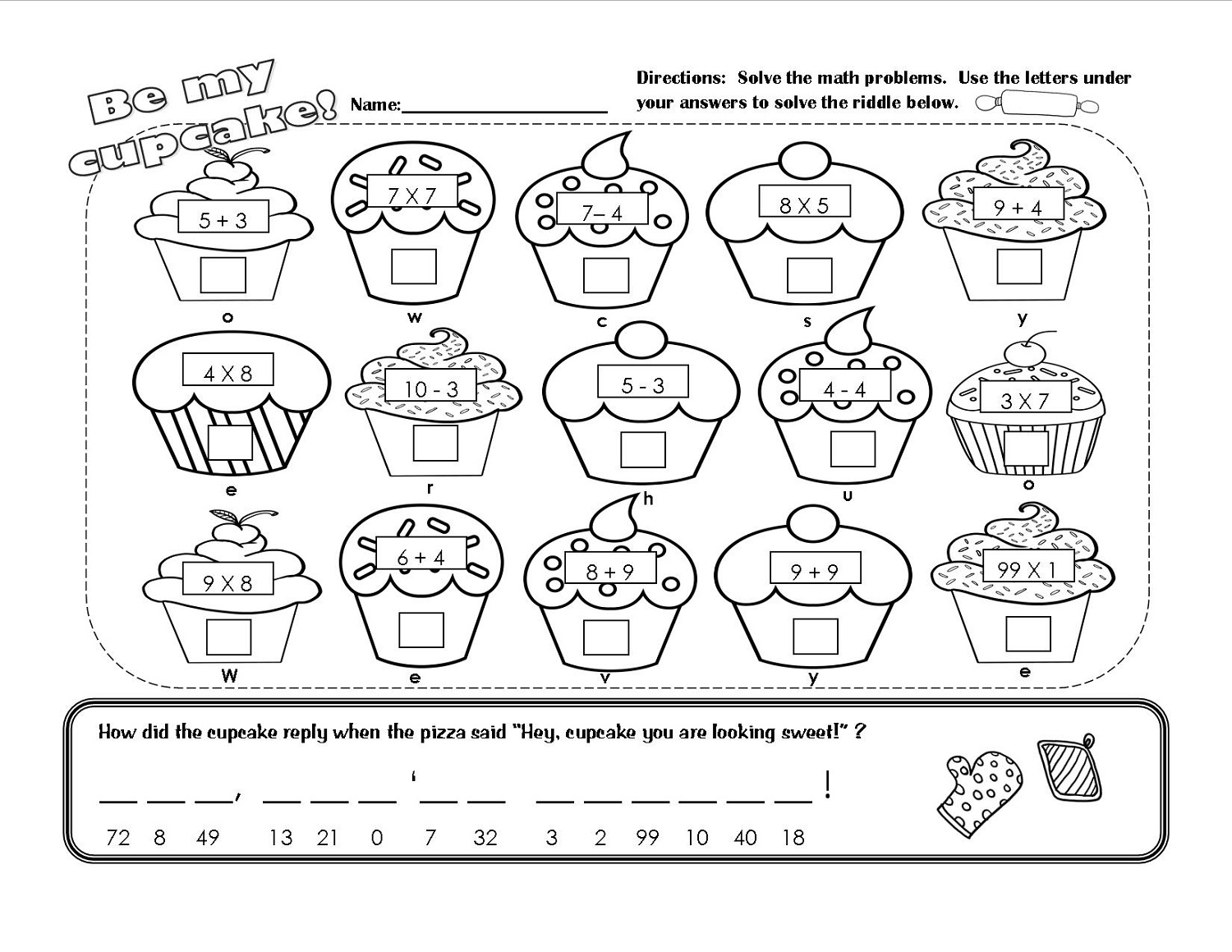 Make My Own Multiplication Worksheet
