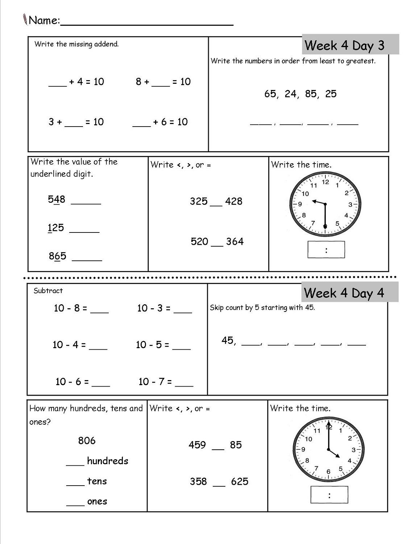 Free Mathematics Worksheets