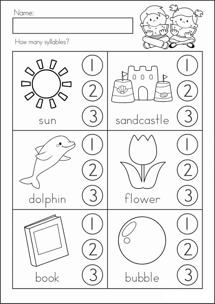 Kindergarten Tutoring Worksheets