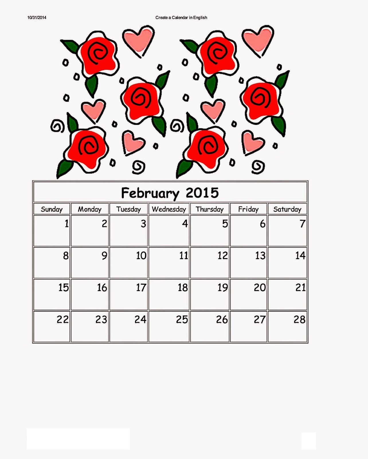 Dltk Kids Calendars