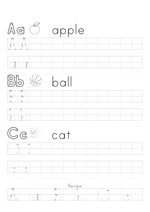 small resolution of ABC Trace Worksheets 2019   Activity Shelter