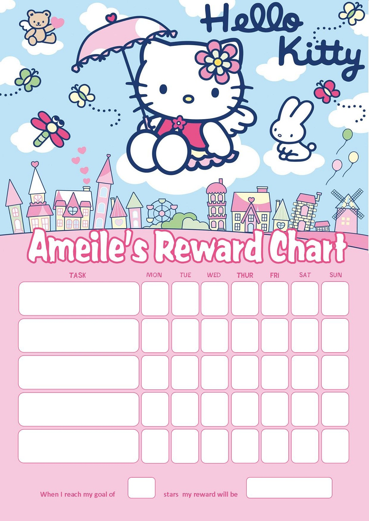 Reward Charts For 3 Year Old Templates