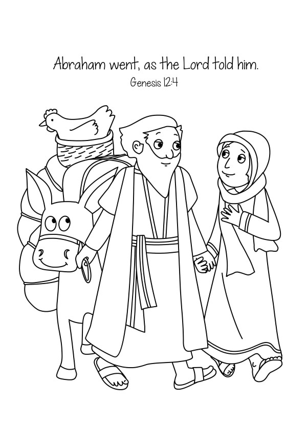 abraham and sarah coloring pages # 0