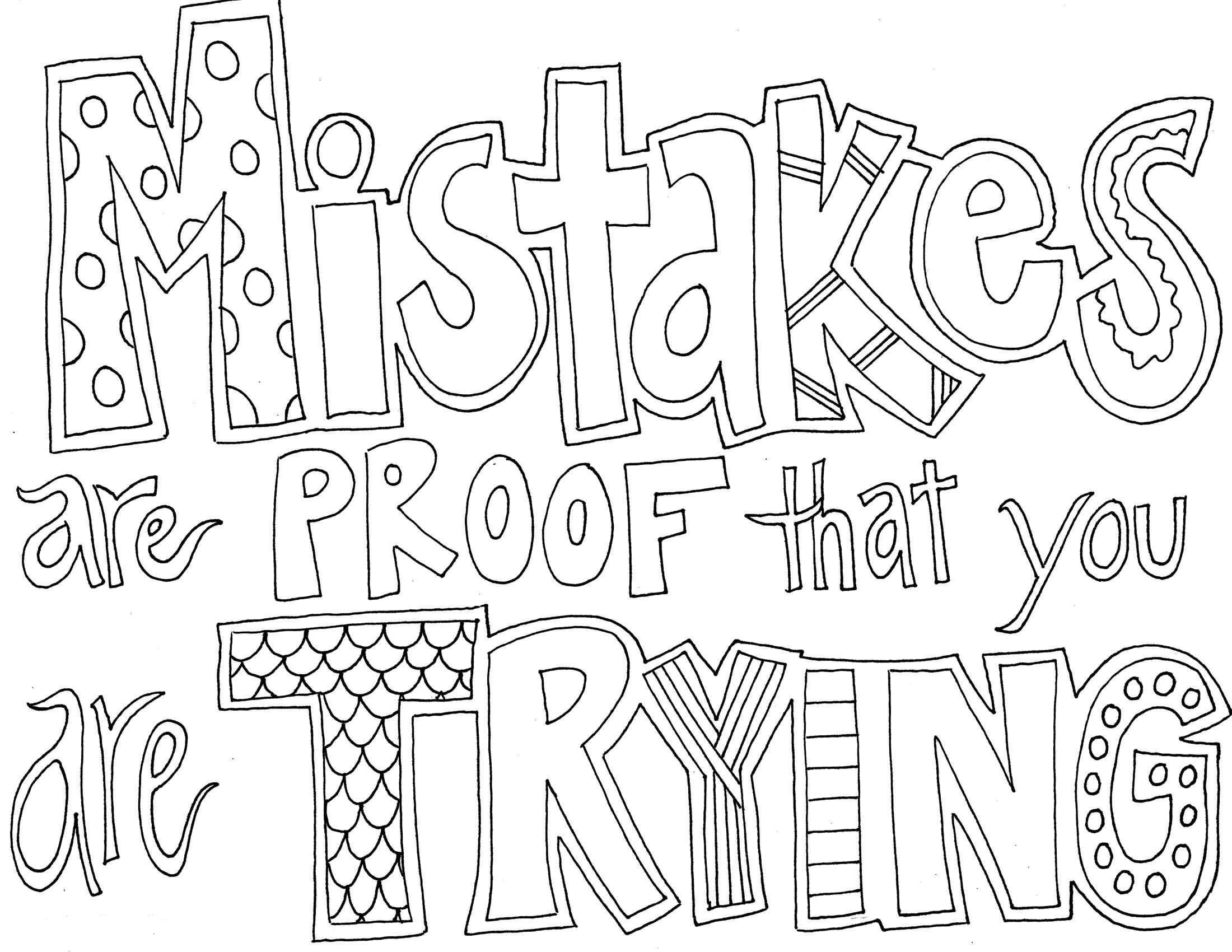 Quote And Sayings Coloring Pages