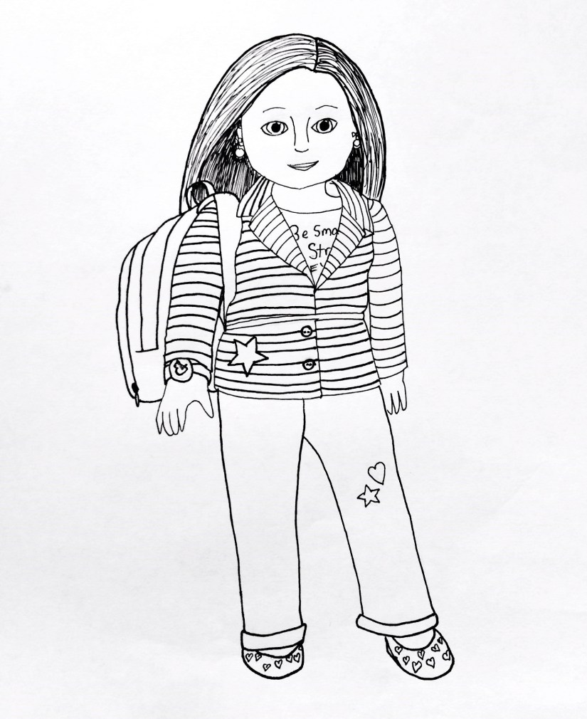 american girl doll coloring pages printable | activity shelter