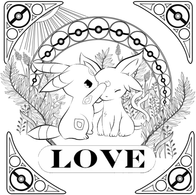 Umbreon Coloring Pages Printable  Activity Shelter