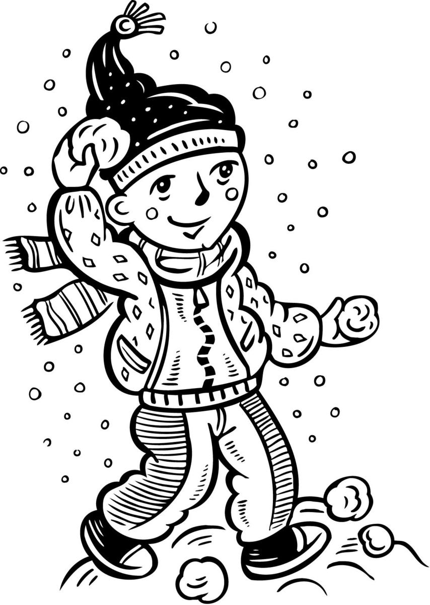Snow Day Language Fun Freebie
