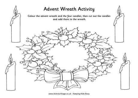 Advent Wreath Colour Cut and Paste Activity