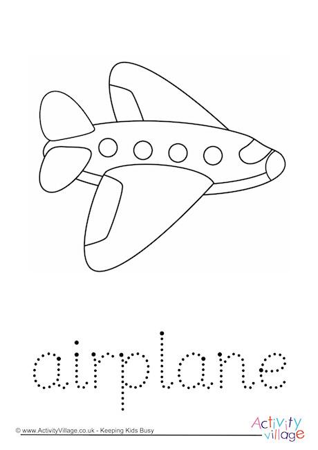 Airplane Word Tracing