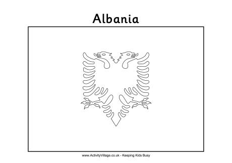 Albania Colouring Flag