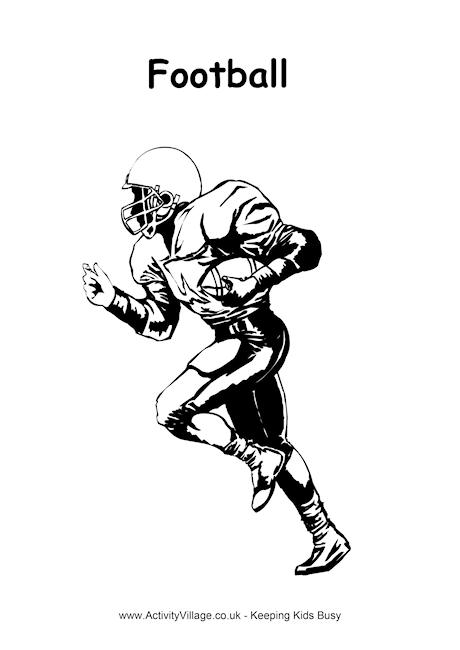 American Football Colouring Page 3