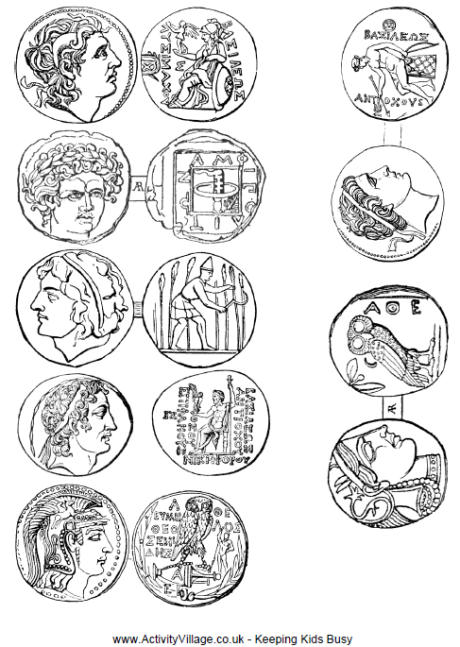Ancient Greek Coins Printable
