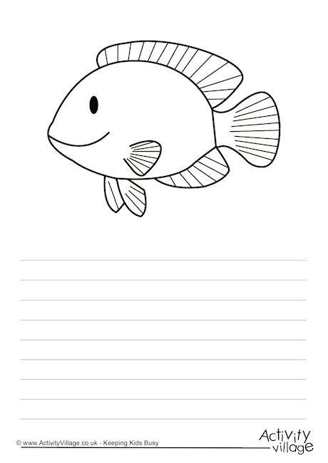 Angel Fish Story Paper