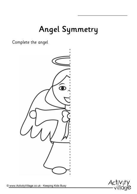 Angel Symmetry Worksheet