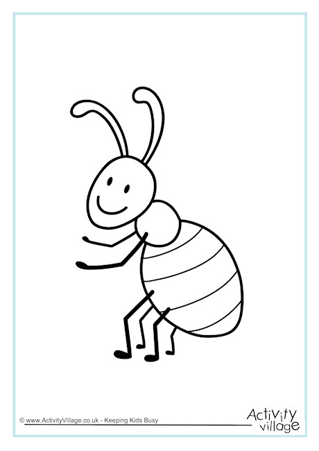 Ant Colouring Page