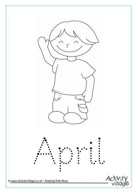 April Word Tracing
