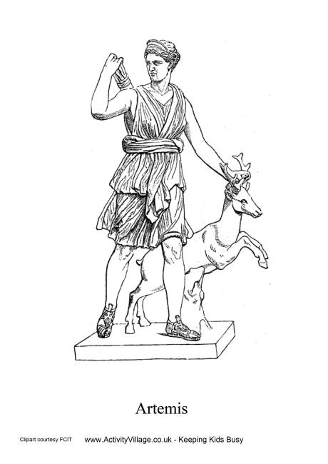 Artemis Colouring Page