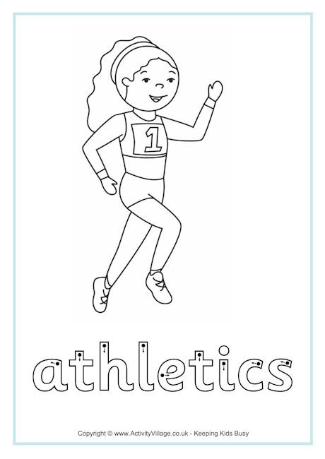 Athletics Finger Tracing