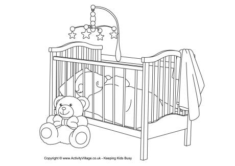 Baby Colouring Page