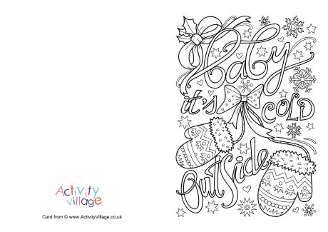 Baby It's Cold Outside Colouring Card