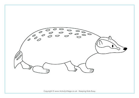 Badger Colouring Page 2