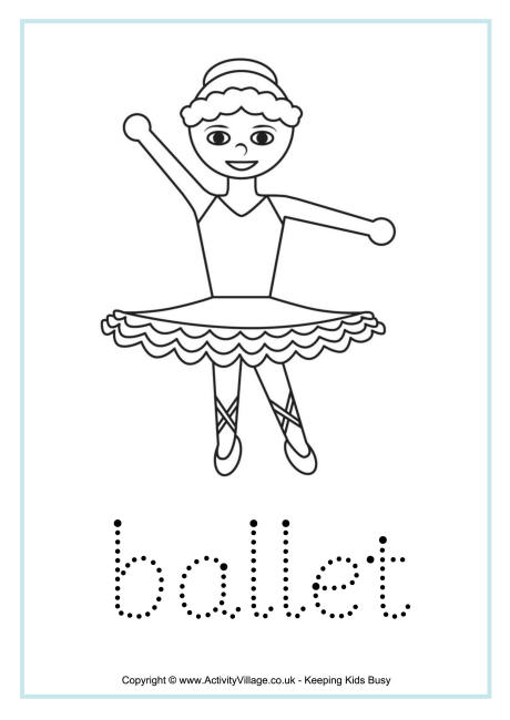 Ballet Word Tracing