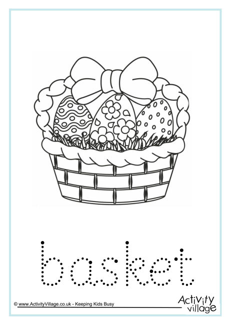 Basket Word Tracing