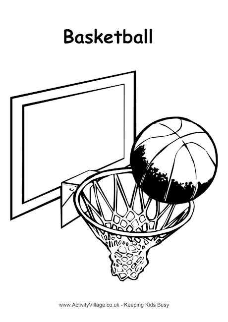 Basketball Colouring Page 2