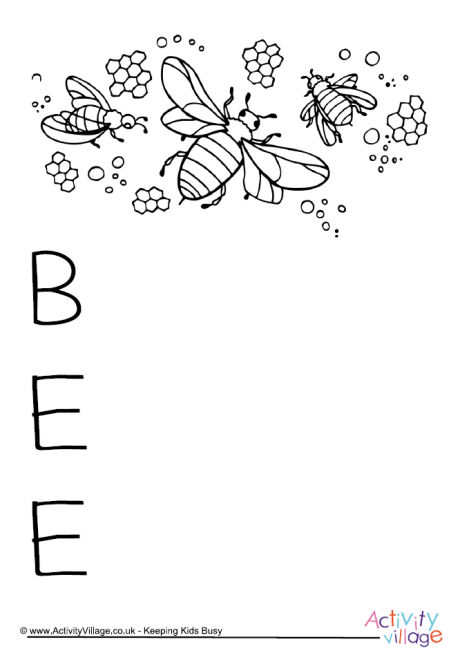 Bee Acrostic Poem Printable 2