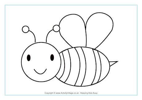Bee Colouring Page