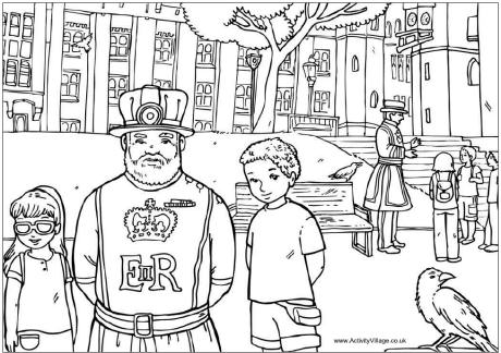 Beefeaters Colouring Page