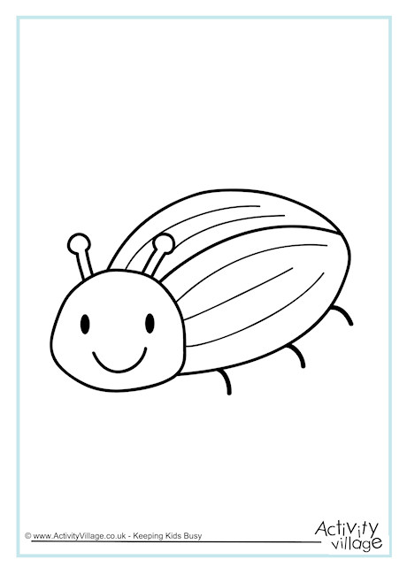 Beetle Colouring Page