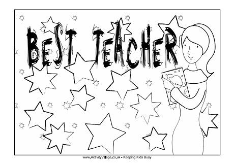 teacher appreciation coloring pages # 17