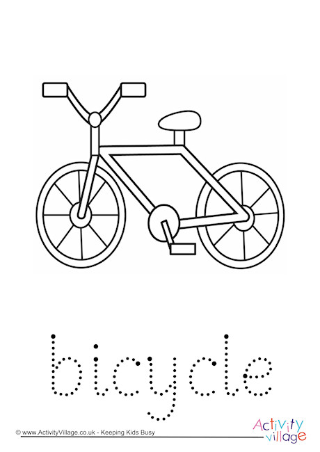 Bicycle Word Tracing
