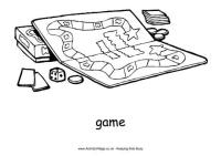 Board Game Colouring Page