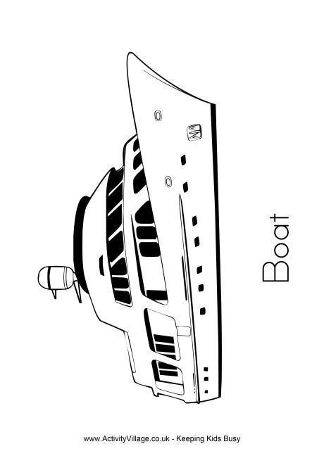 Boat Colouring Page