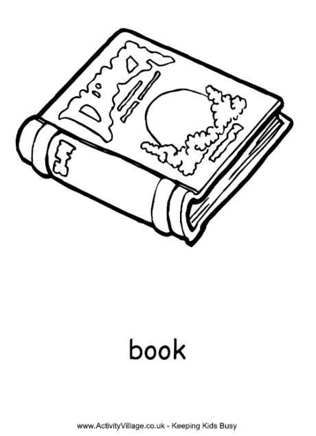 Book Colouring Page