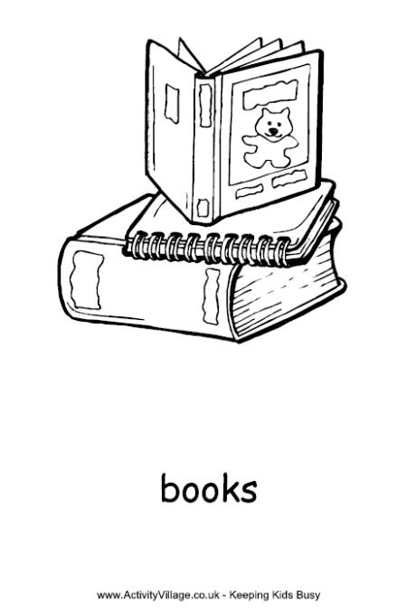 Books Colouring Page