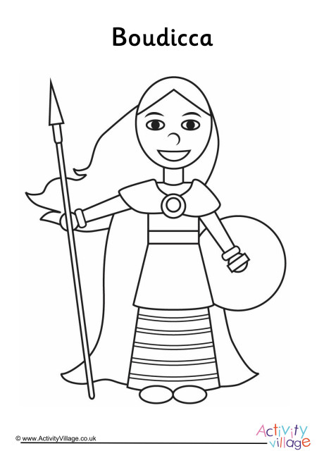 Boudicca Colouring Page