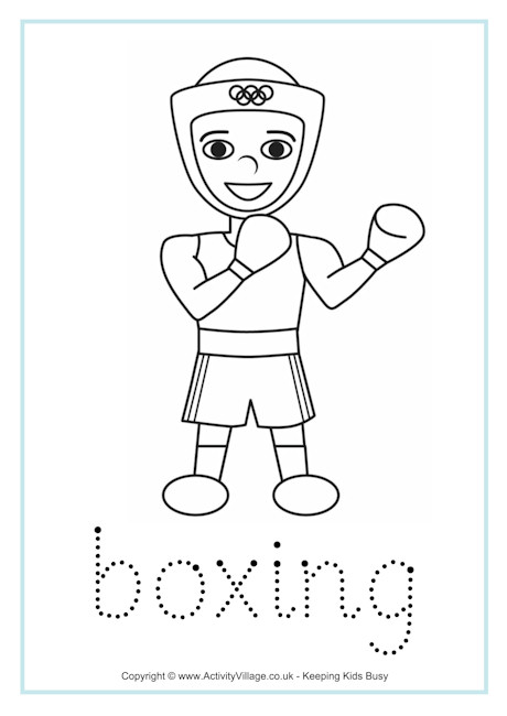 Boxing Word Tracing
