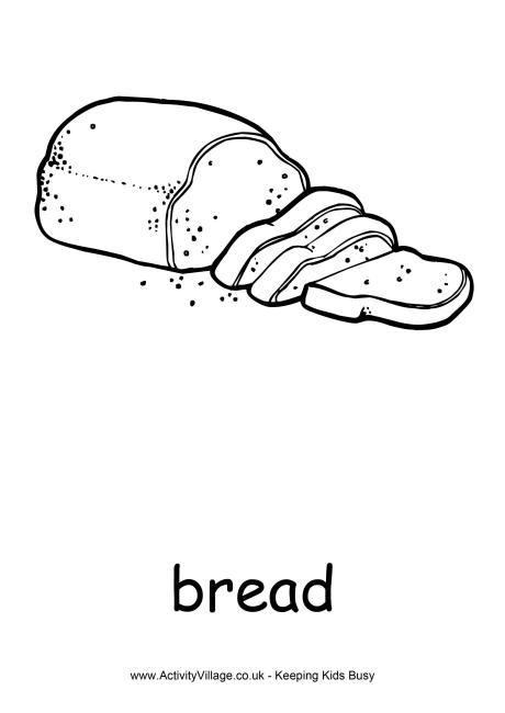 Bread Colouring Page