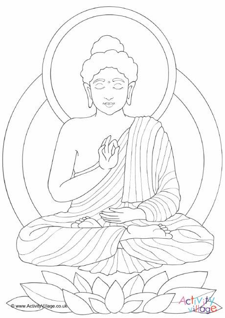 Buddha Colouring Page