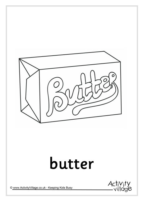 Butter Colouring Page
