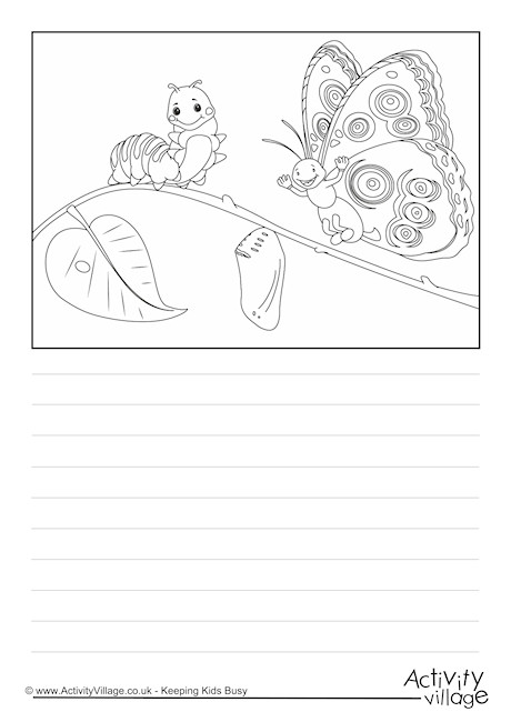 Butterfly Life Cycle Story Paper