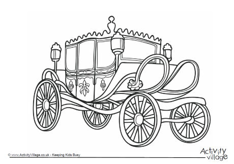 Carriage Colouring Page 1